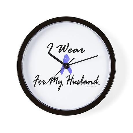 I Wear Light Blue For My Husband Wall Clock