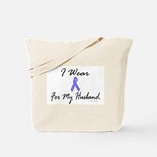 I Wear Light Blue For My Husband Tote Bag
