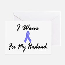 I Wear Light Blue For My Husband Greeting Card