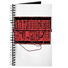 Modular Synth Red/Black Journal