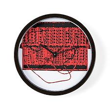 Modular Synth Red/Black Wall Clock