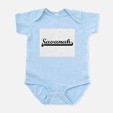 Savanah Classic Retro Name Design Body Suit