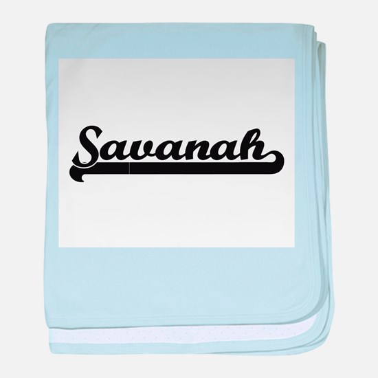 Savanah Classic Retro Name Design baby blanket