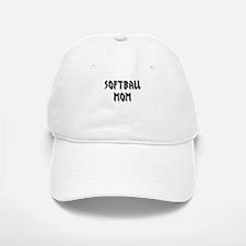 Softball Mom text Baseball Baseball Baseball Cap