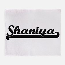 Shaniya Classic Retro Name Design Throw Blanket