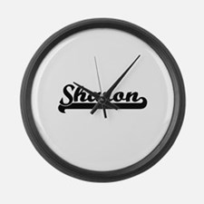 Sharon Classic Retro Name Design Large Wall Clock
