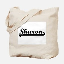 Sharon Classic Retro Name Design Tote Bag