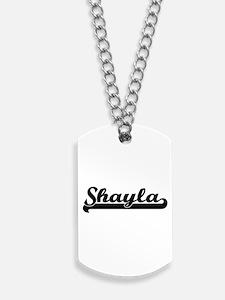 Shayla Classic Retro Name Design Dog Tags