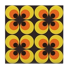 70s Wallpaper Tile Coaster
