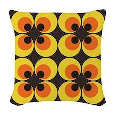 70s Wallpaper Woven Throw Pillow