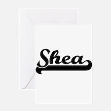 Shea Classic Retro Name Design Greeting Cards
