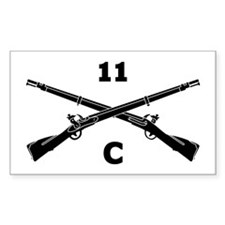 Funny Crossed rifles Decal