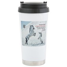 quote with MIni and grey stallion Travel Mug
