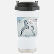 quote with MIni and grey stallion Travel Mug