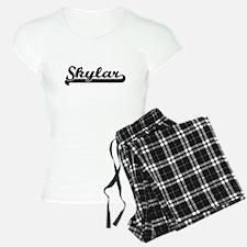 Skylar Classic Retro Name D Pajamas
