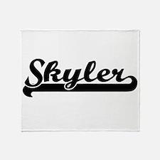 Skyler Classic Retro Name Design Throw Blanket