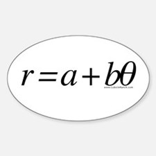Spiral Equation Oval Decal