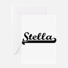 Stella Classic Retro Name Design Greeting Cards