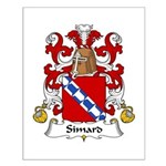 Simard Family Crest Small Poster