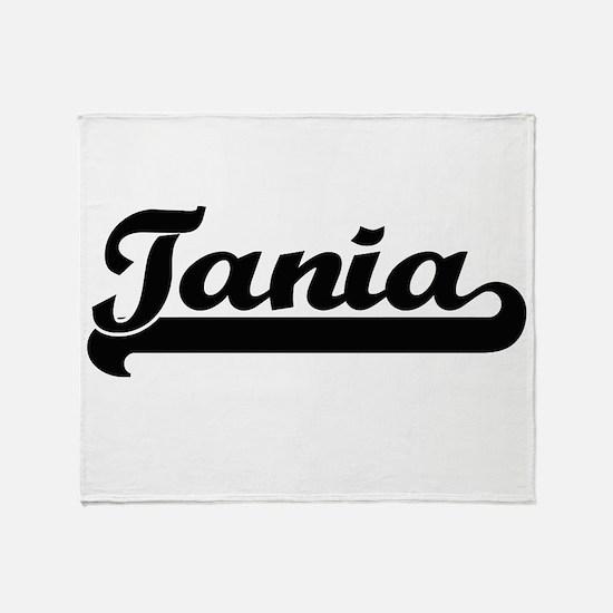 Tania Classic Retro Name Design Throw Blanket