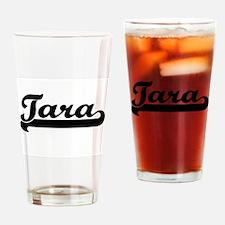 Tara Classic Retro Name Design Drinking Glass