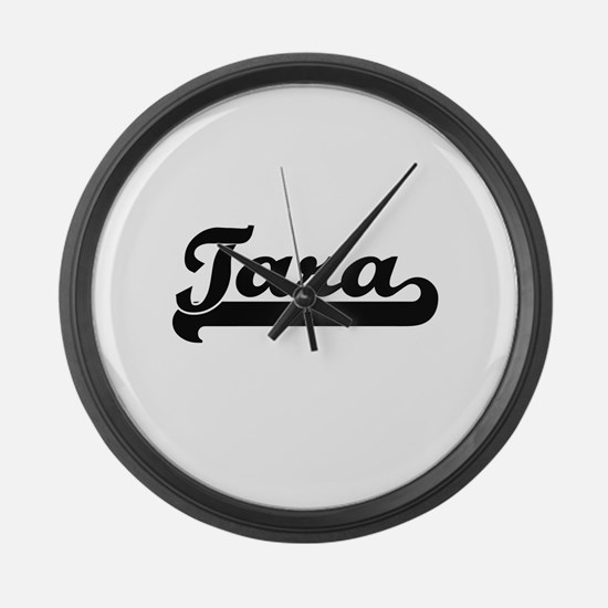 Tara Classic Retro Name Design Large Wall Clock