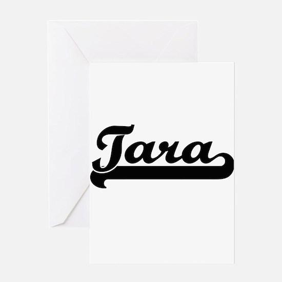 Tara Classic Retro Name Design Greeting Cards