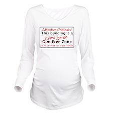 Crime Spree Zone Long Sleeve Maternity T-Shirt