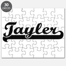 Tayler Classic Retro Name Design Puzzle
