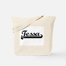 Tessa Classic Retro Name Design Tote Bag