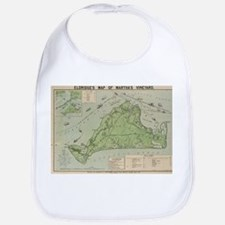 Vintage Map of Marthas Vineyard (1913) Bib