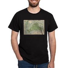 Vintage Map of Marthas Vineyard (1913) T-Shirt