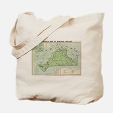 Vintage Map of Marthas Vineyard (1913) Tote Bag