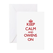 Keep Calm and Owens ON Greeting Cards