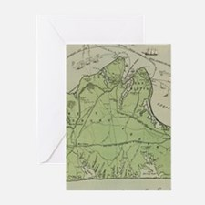 Vintage Map of Marthas Vineyard (19 Greeting Cards
