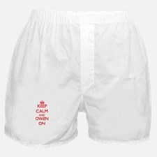 Keep Calm and Owen ON Boxer Shorts