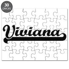 Viviana Classic Retro Name Design Puzzle
