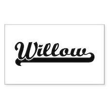 Willow Classic Retro Name Design Decal