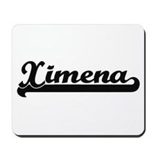 Ximena Classic Retro Name Design Mousepad