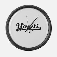 Yareli Classic Retro Name Design Large Wall Clock