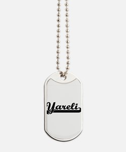 Yareli Classic Retro Name Design Dog Tags