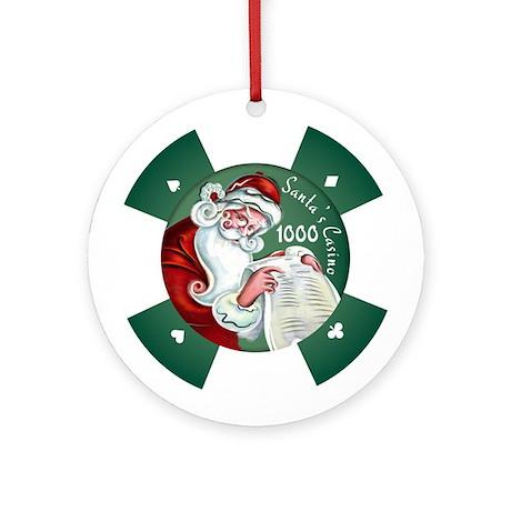 """""""Santa's Casino"""" $1000 Chip Ornament"""