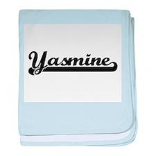 Yasmine Classic Retro Name Design baby blanket