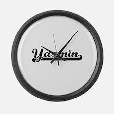 Yazmin Classic Retro Name Design Large Wall Clock