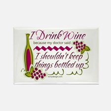 I Drink Wine Funny Quote Magnets