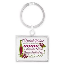 I Drink Wine Funny Quote Keychains