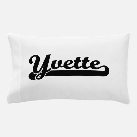 Yvette Classic Retro Name Design Pillow Case