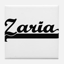 Zaria Classic Retro Name Design Tile Coaster