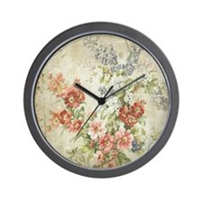 Beautiful Vintage Floral Wall Clock