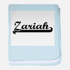Zariah Classic Retro Name Design baby blanket